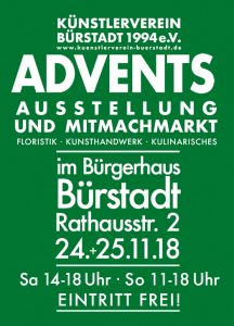 Flyer Adventsausstellung